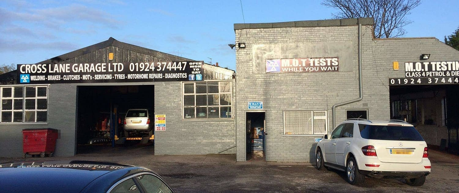 cross lane garage wakefield. MOT and service garage wf2.